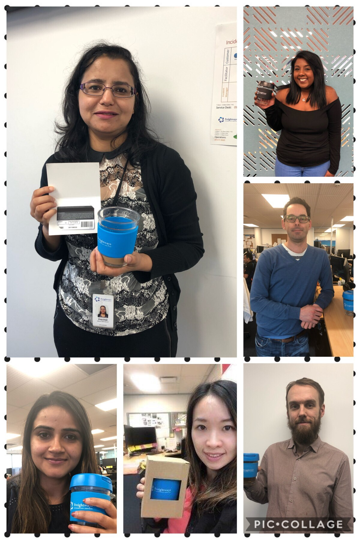 Our Healthy July challenge winners flaunting their prizes
